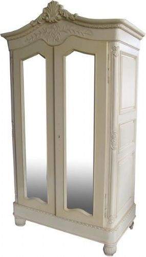 A Mirrored French Crested Armoire